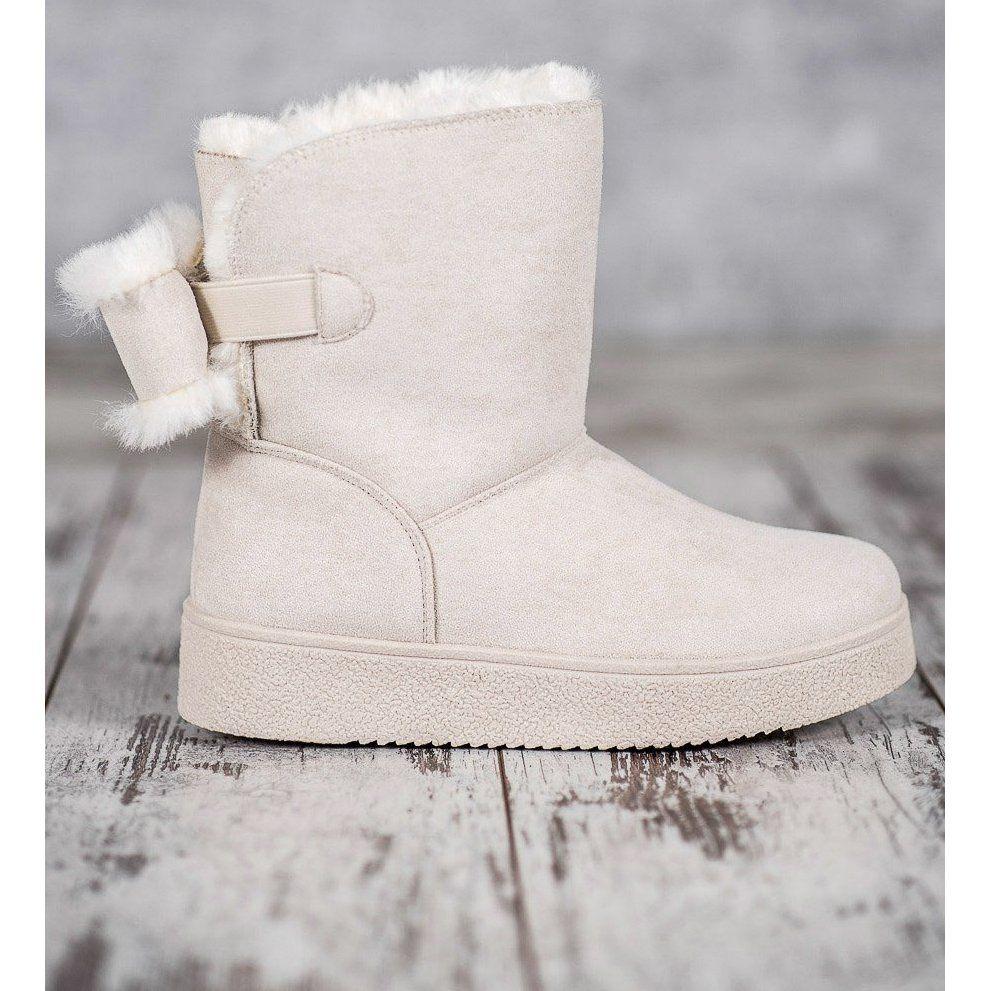 Shelovet Mukluki Z Kokardka Brazowe Ugg Boots Boots Shoes