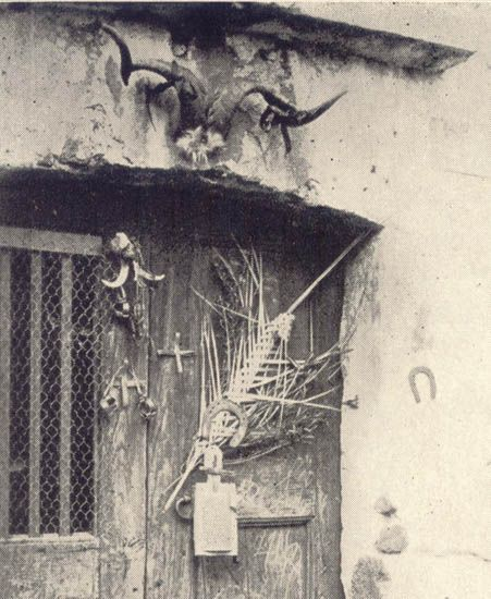 My door is going to look like this soon! Il Malocchio - \ Door Charms for the Evil Eye\  Sicily circa 1910 & My door is going to look like this soon!! Il Malocchio - \
