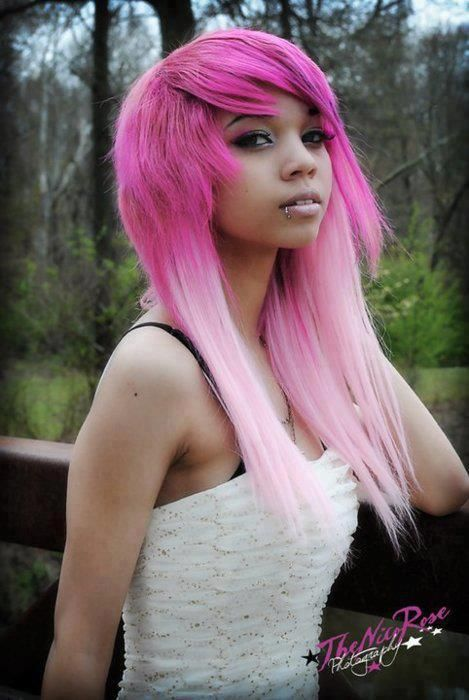 Awh, I love this as I never thought light hair colours would go with darker skins tones like mine and hers. c: