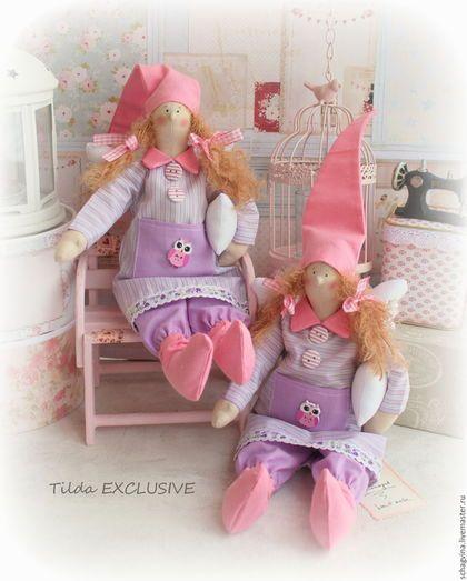Куклы Тильды ручной работы. Ярмарка Мастеров - ручная работа. Купить Сонный ангел Эвелина. Handmade. Сонный ангел