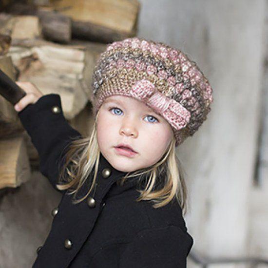 Puff Stitch Hat With Bow Crochet Pinterest Crochet Hats