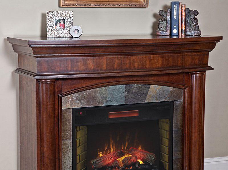 u003c3 aspen infrared electric fireplace mantel package in meridian cherry u003c3 - Electric Fireplace With Mantel