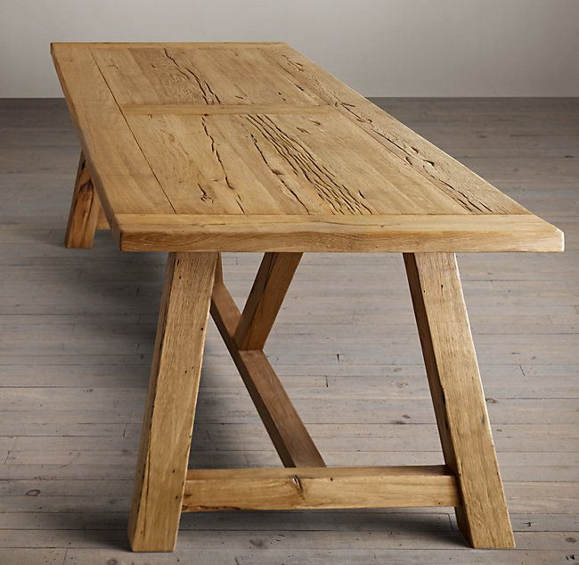 Pin By Farming My Backyard Simple L On For The Home Small Kitchen Tables Trestle Table Plans Building A Kitchen
