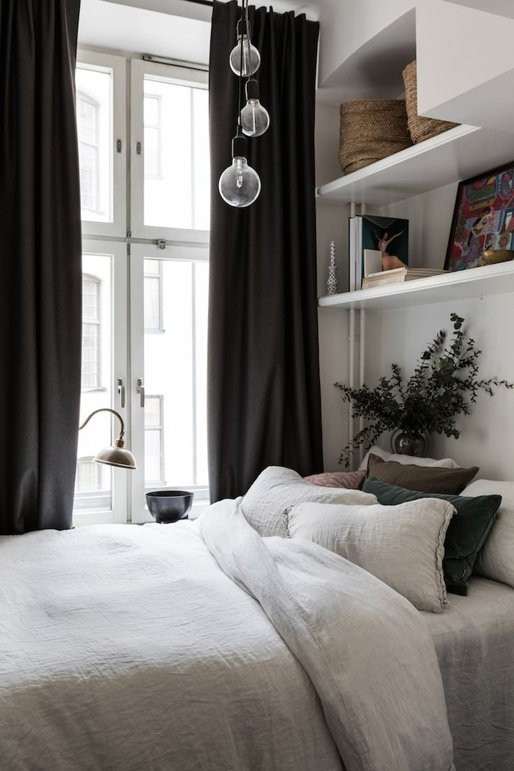 my scandinavian home: Bedroom in a small Swedish space, that's big on cosiness!