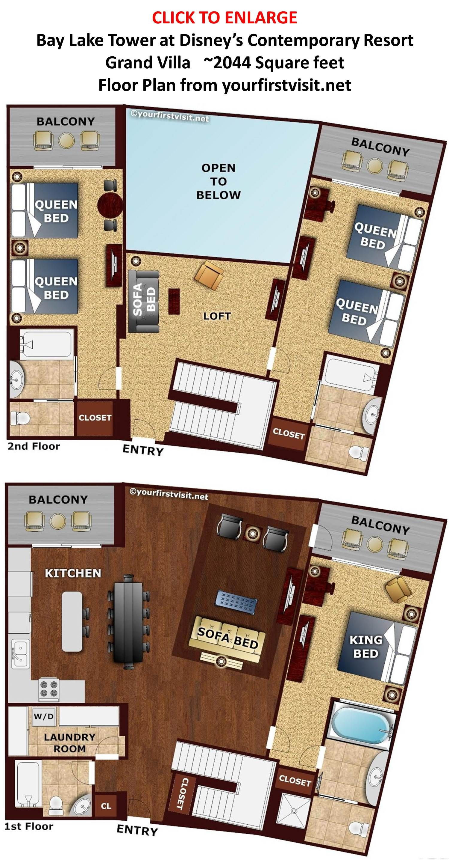 disney treehouse villas floor plan Google