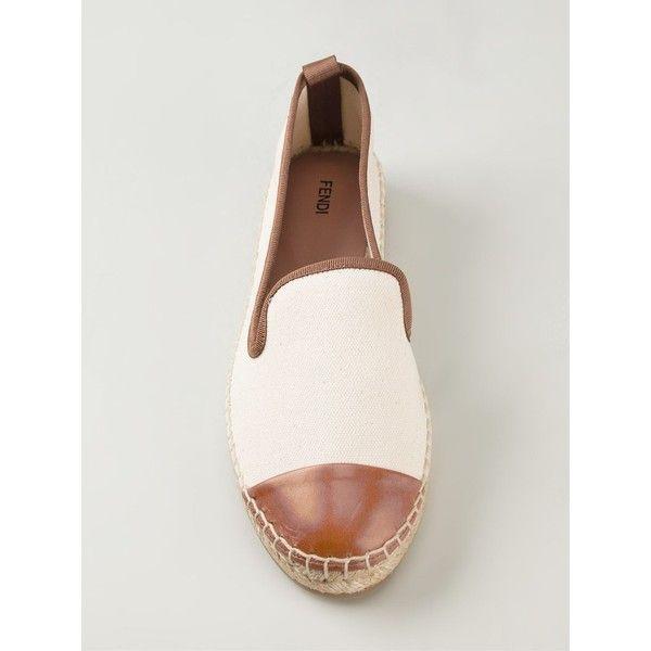 Fendi contrast toe espadrilles ($265) ❤ liked on Polyvore
