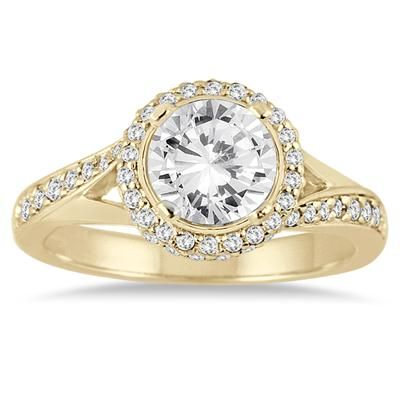 1 1 2 Carat Diamond Engagement Ring In 14k Yellow Gold Beautiful Diamond Rings Best Engagement Rings Engagement Rings