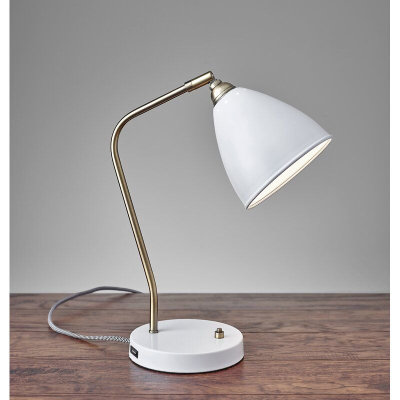 Adel Desk Lamp Reviews Joss Main Metal Desk Lamps White Desk Lamps Desk Lamp Stainless steel desk lamp