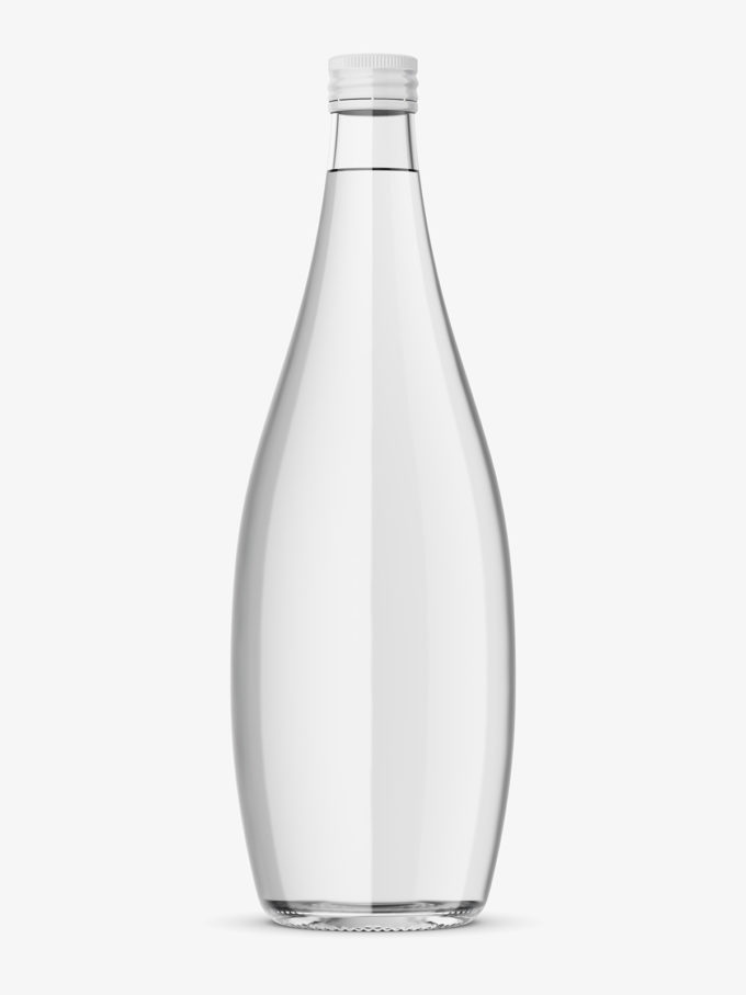 Glass Bottle With Mineral Water Mockup Smarty Mockups Water Photography Mineral Water Ink In Water