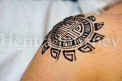 Henna Geometric Sun Shoulder Man Or Woman Intricate Modern Day