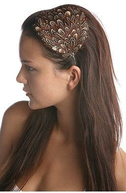 In love with feather hair pieces