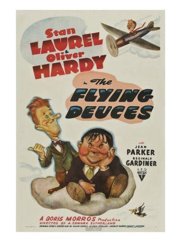 The Flying Deuces, Stan Laurel, Oliver Hardy, 1939 Premium Poster at Art.com