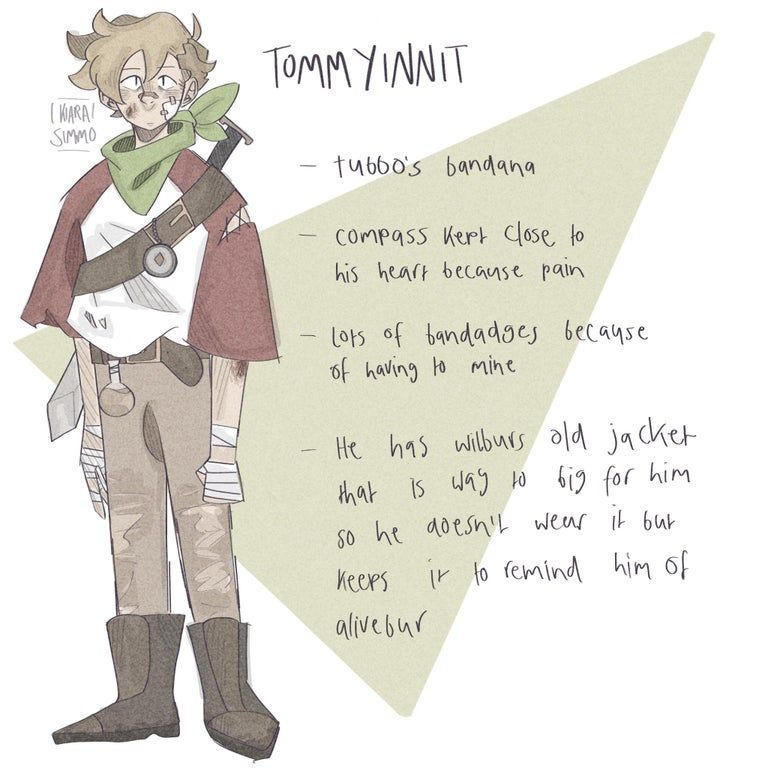 Dream Smp Tommy Design Tommyinnit My Dream Team Smp Dream Art