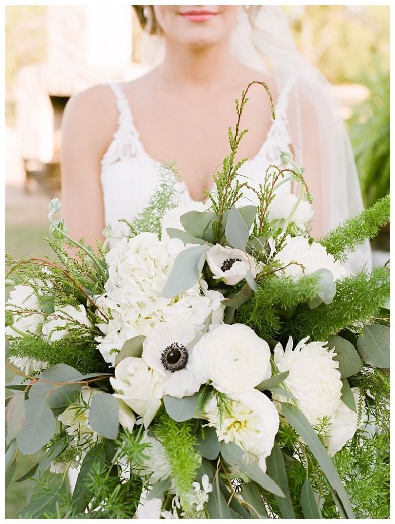 Bride Holding Wedding Bouquet At The Grande Hall Hofmann Ranch Castroville Tx San