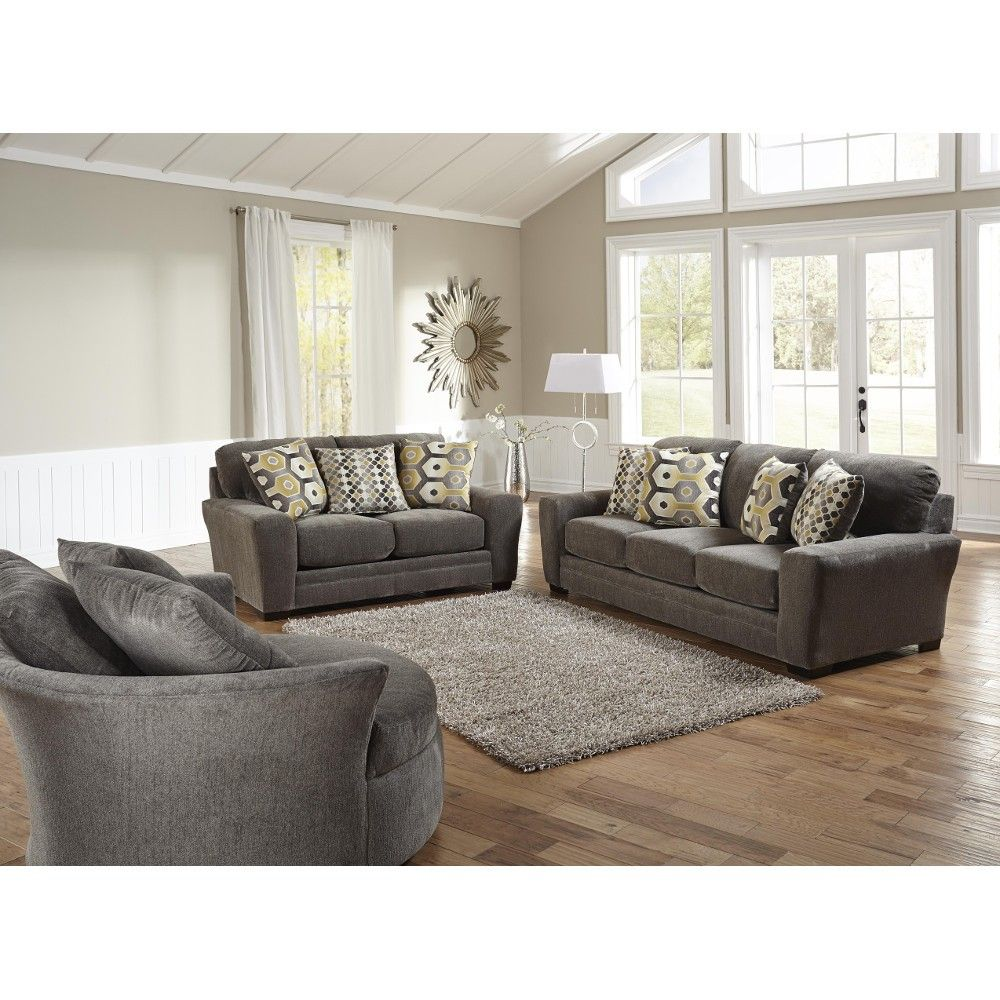 Sax living room sofa loveseat grey 3297032844 for Sofa and 2 chairs living room