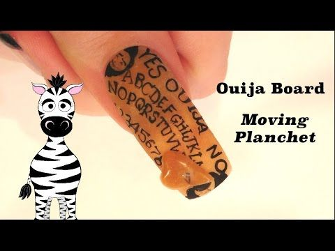 3d Ouija Board With Moving Planchet Acrylic Nail Art Tutorial
