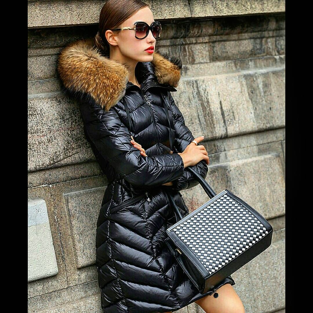 2fa0a9cec03c9c Very sexy looking Moncler puffy jacket. #puffyjacket #puffy #shiny #puffer  #nylon #black #down #moncler #jacket #doudoune #fur #winterfashion #love #  ...