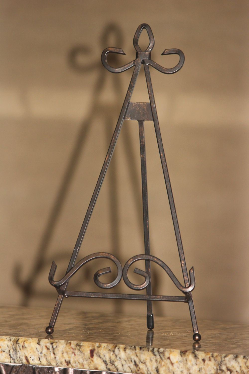 Wrought Iron Decorative Easel Plate Stand 14.25 by MREdesignsLLC $11.00 & Wrought Iron Decorative Easel Plate Stand 14.25