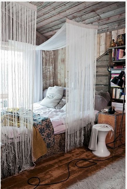 Make Your Own Canopy With Rope Nails And Fabric