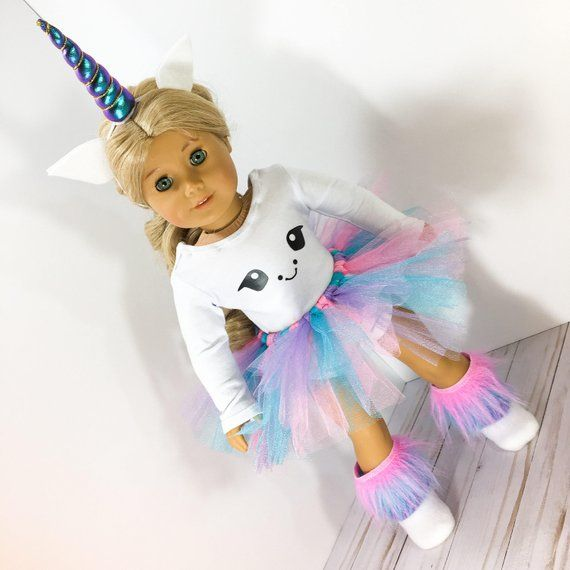 18 inch Doll clothes - Unicorn Outfit fits doll like American Girl, One Generation, and My Life, Unicorn Costume #18inchdollsandclothes