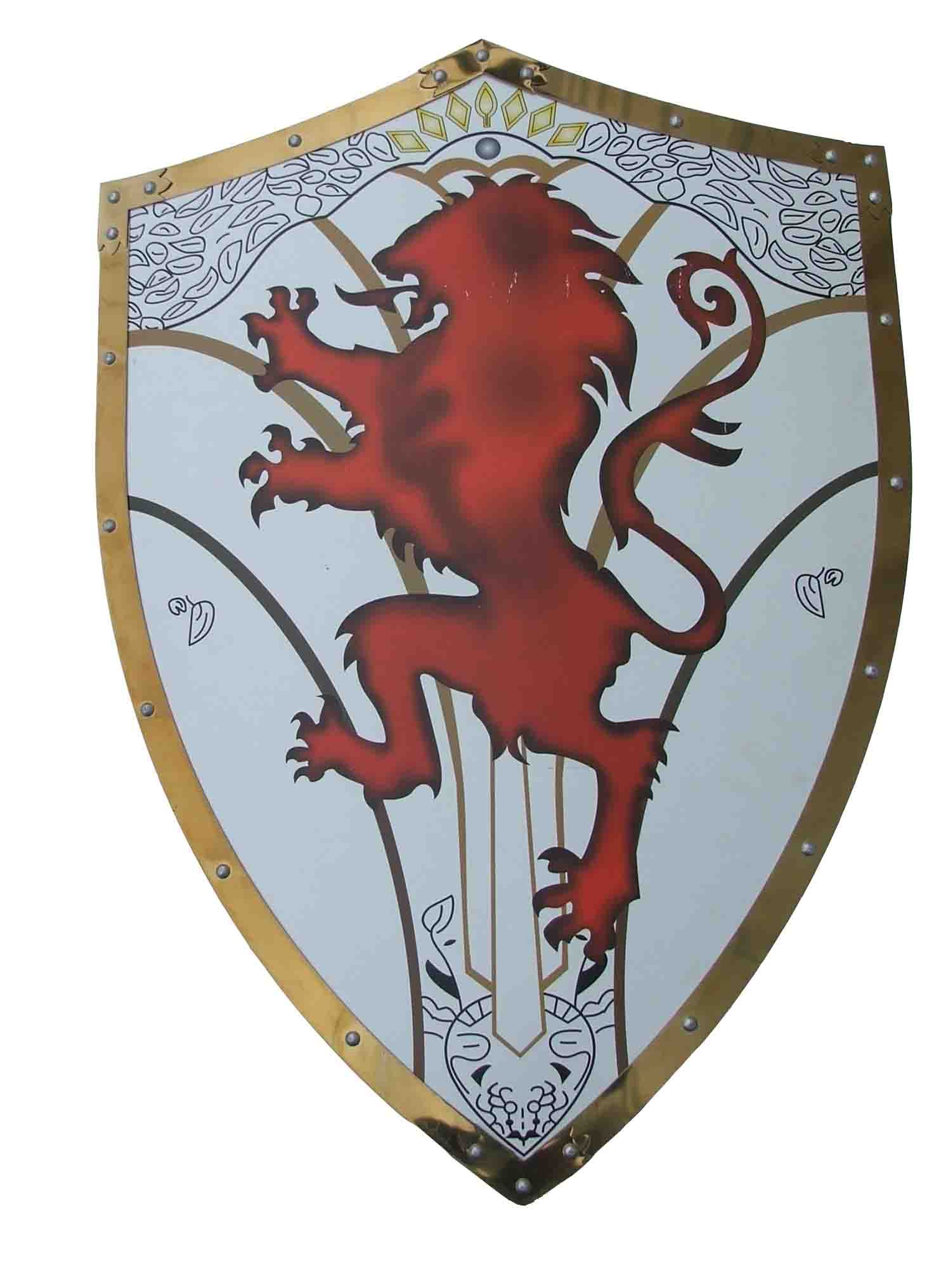 поговорим картинки герб на щите рыцаря стене