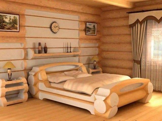 diy machen sie ihr eigenes log bett diy pinterest. Black Bedroom Furniture Sets. Home Design Ideas