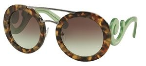 9e14b0f4772be Óculos de sol Prada Baroque Evolution 13SS Havana Verde
