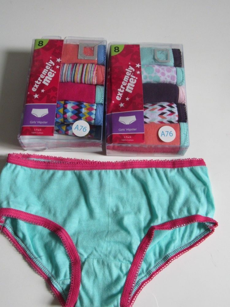 c01261adb49b Extremely Me Girls Size 8 Hipster Underwear 5 Pack 100% Cotton NEW  #ExtremelyMe #HipsterUnderwear
