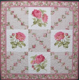rose and squares....love the roses and pinks.