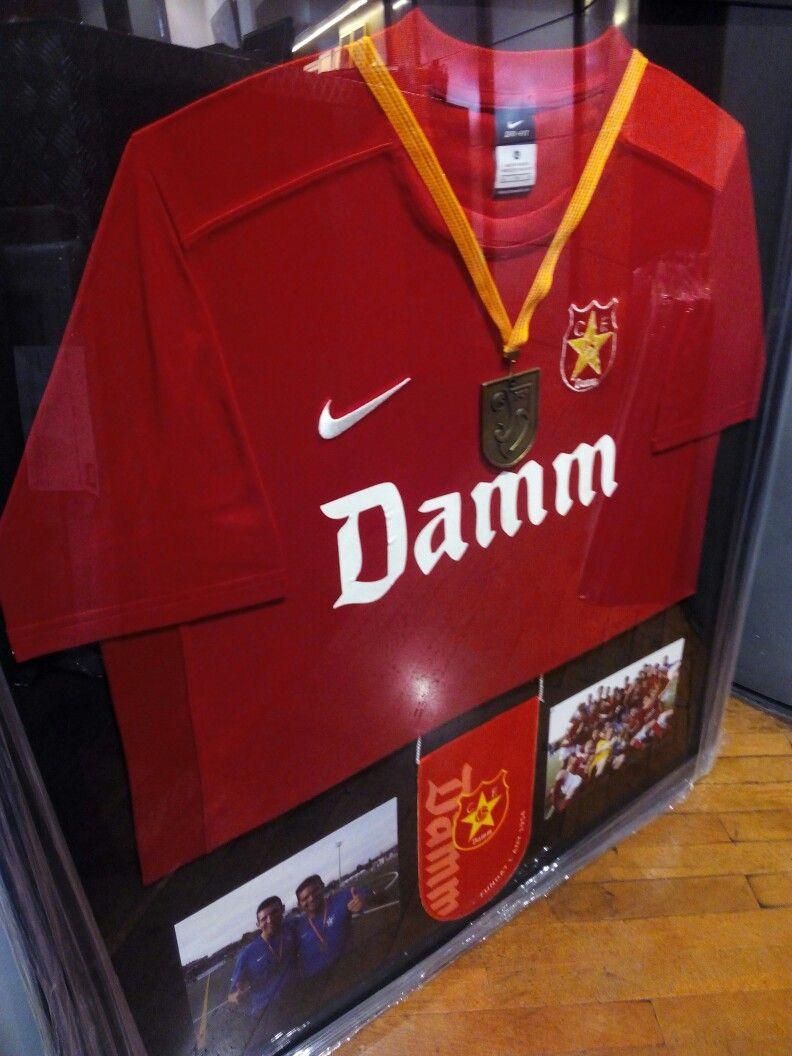 marco para #camiseta #fcdamm con medalla y fotografías | Marcos para ...