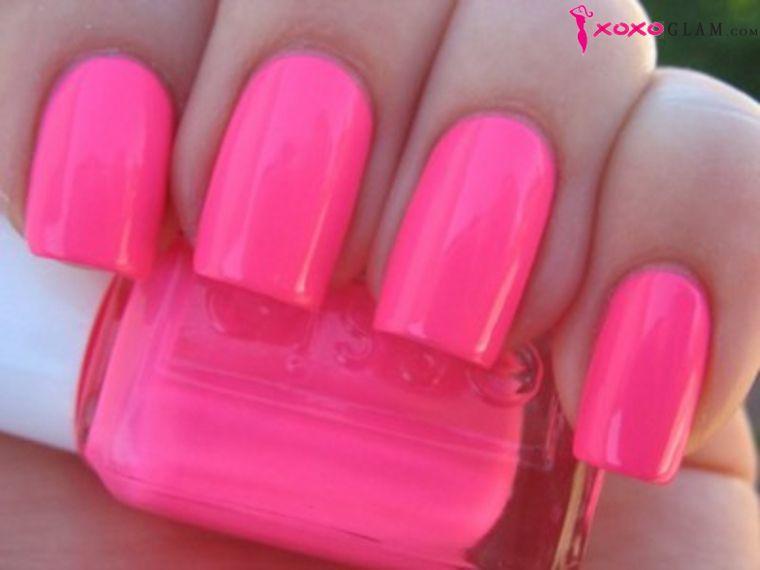XOXOglam Neon Pink Nail Polish by Essie OPI China