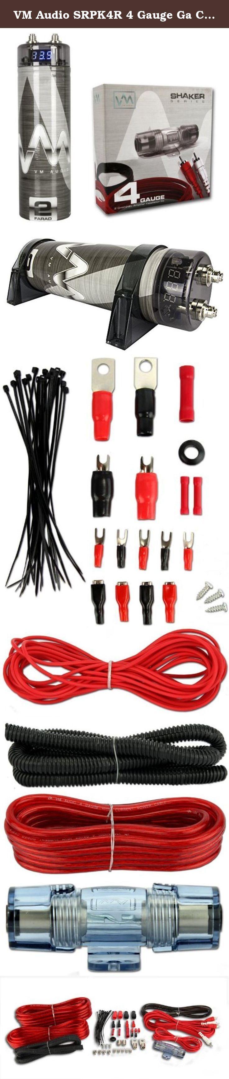 Vm Audio Srpk4r 4 Gauge Ga Car Amplifier Amp Wiring Kit  2