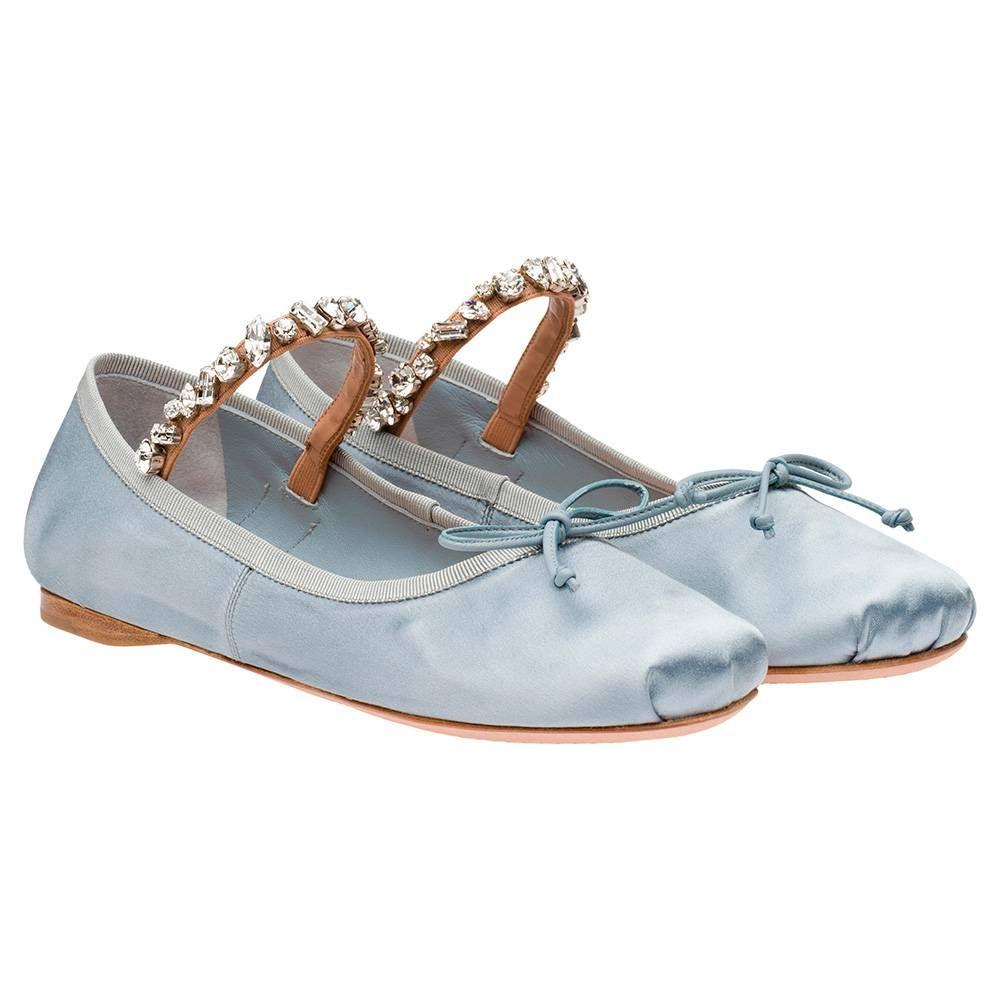 Miu Miu - Ballerinas - Light Grey - Denmark - 5F029B 3D6S F0M10 F 005 02da35708b