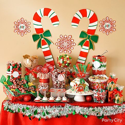 Spread some merry with a candy buffet party city has for Home sweet home party decorations