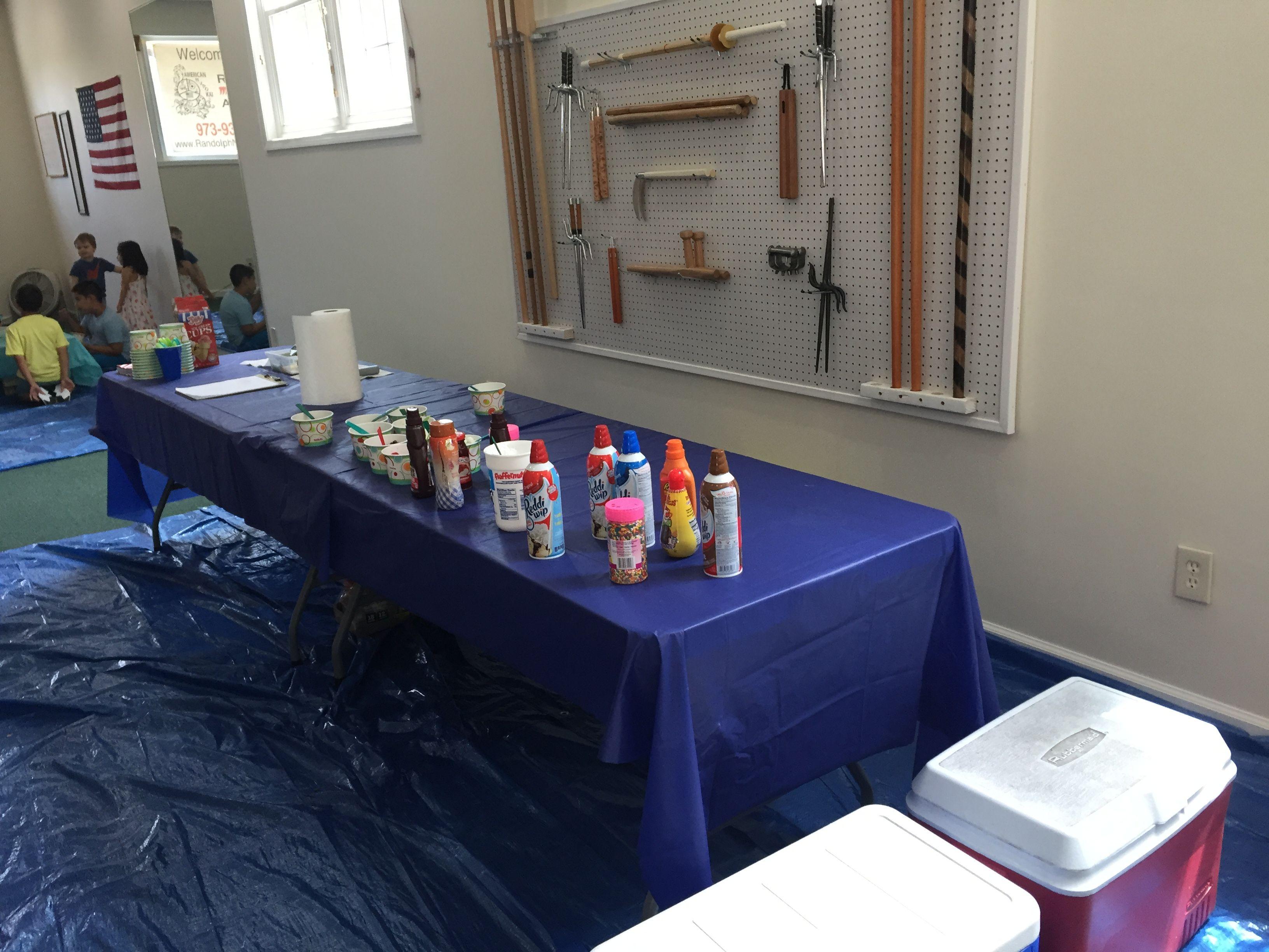 Make your own Sundae table for Mr Hopler's Birthday