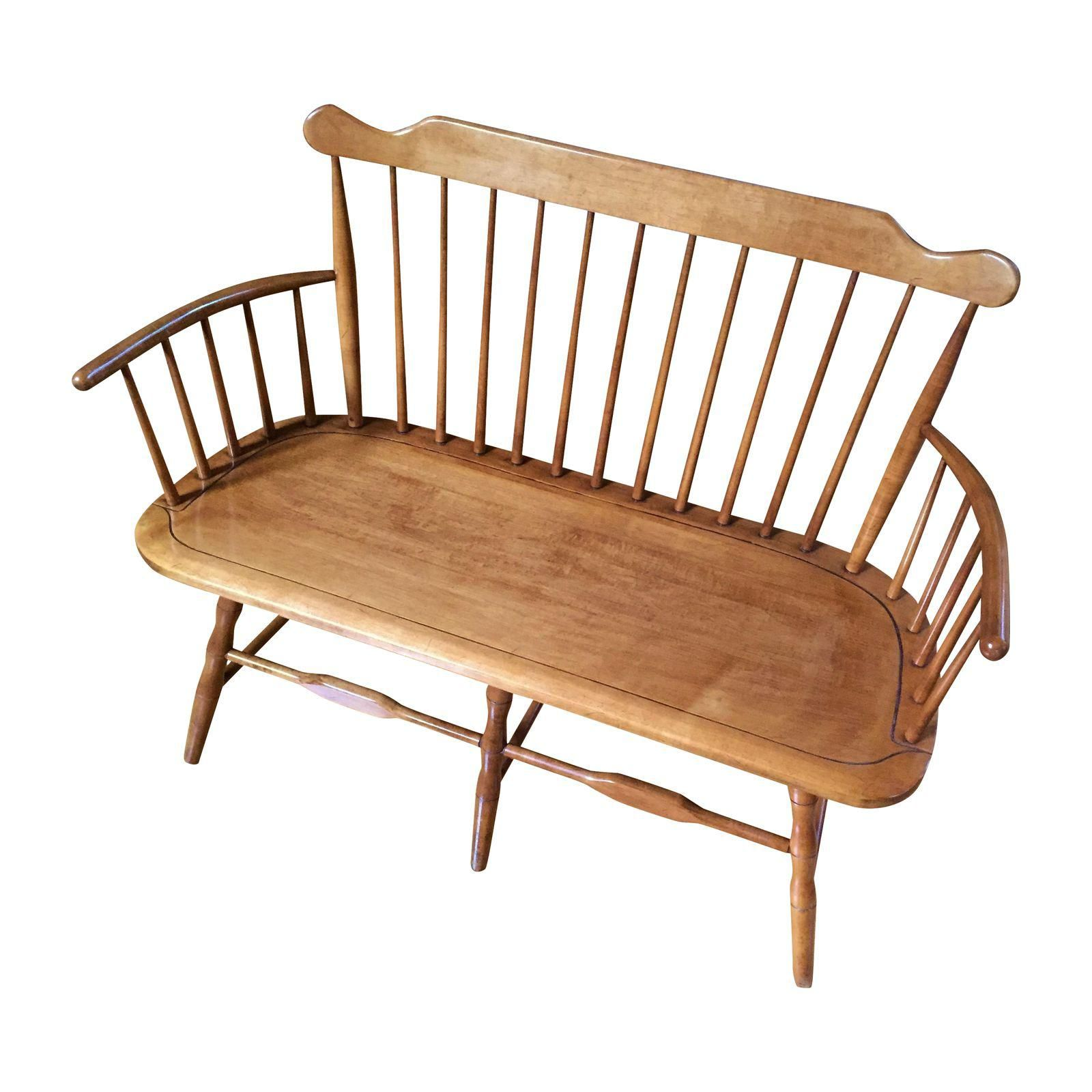 Image of Conant Ball 1852 Spindle-Back Deacon\'s Bench | furniture ...