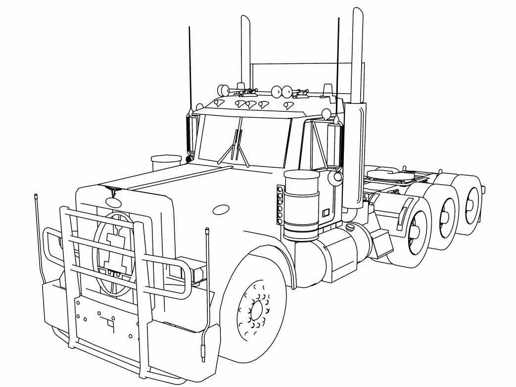Semi Truck Coloring Page New Peterbilt Semi Truck Coloring Pages Southwestdanceacademy Com In 2020 Truck Coloring Pages Coloring Pages Semi Trucks