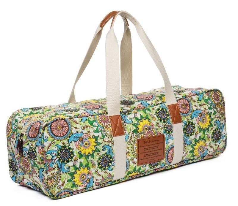 eefc91371d Malirona Yoga Mat Bag Canvas Yoga Mat Carrier Exercise Yoga Duffel Bag  FlowerBag  Malirona Yoga