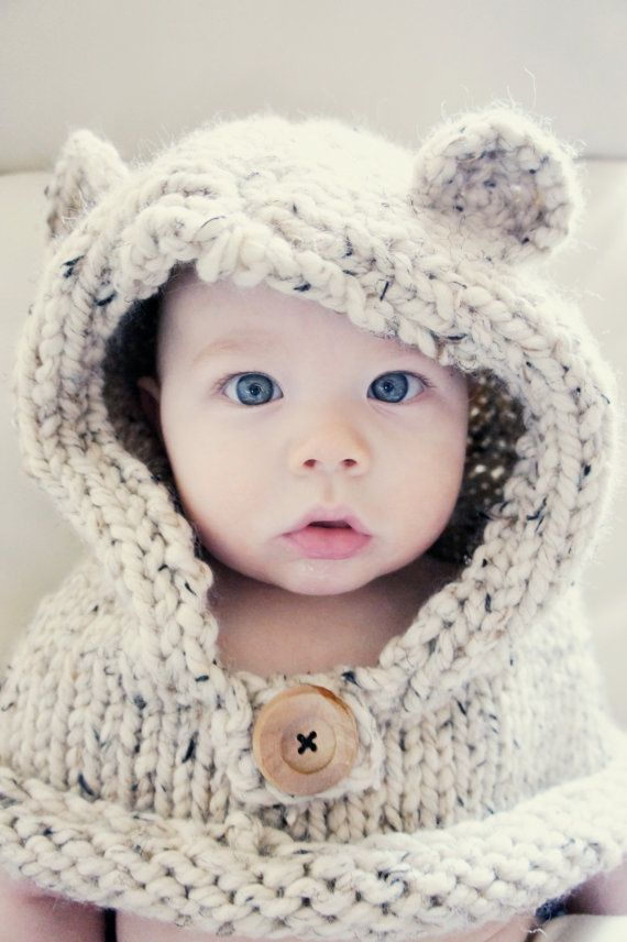 Teddy Bear Cowl Baby Girl Lingrel Pinterest Baby Baby Kind Et