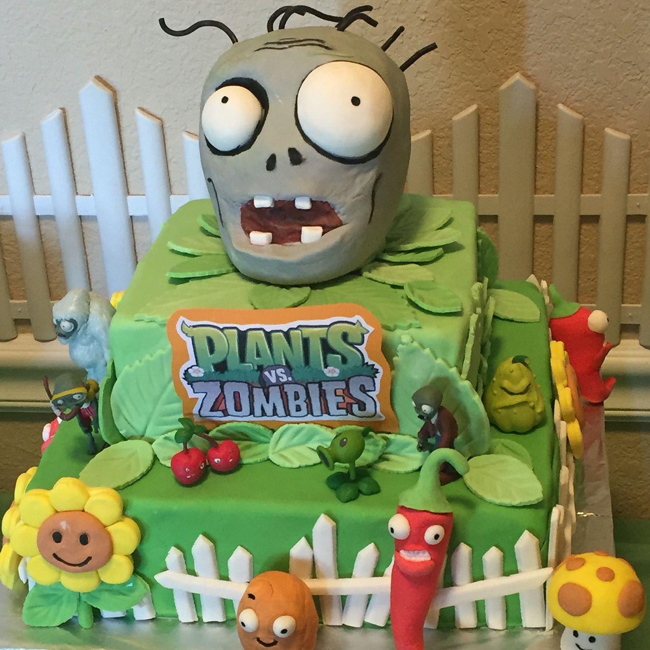 Plants vs Zombies cake Veros Creations Pinterest Plants vs