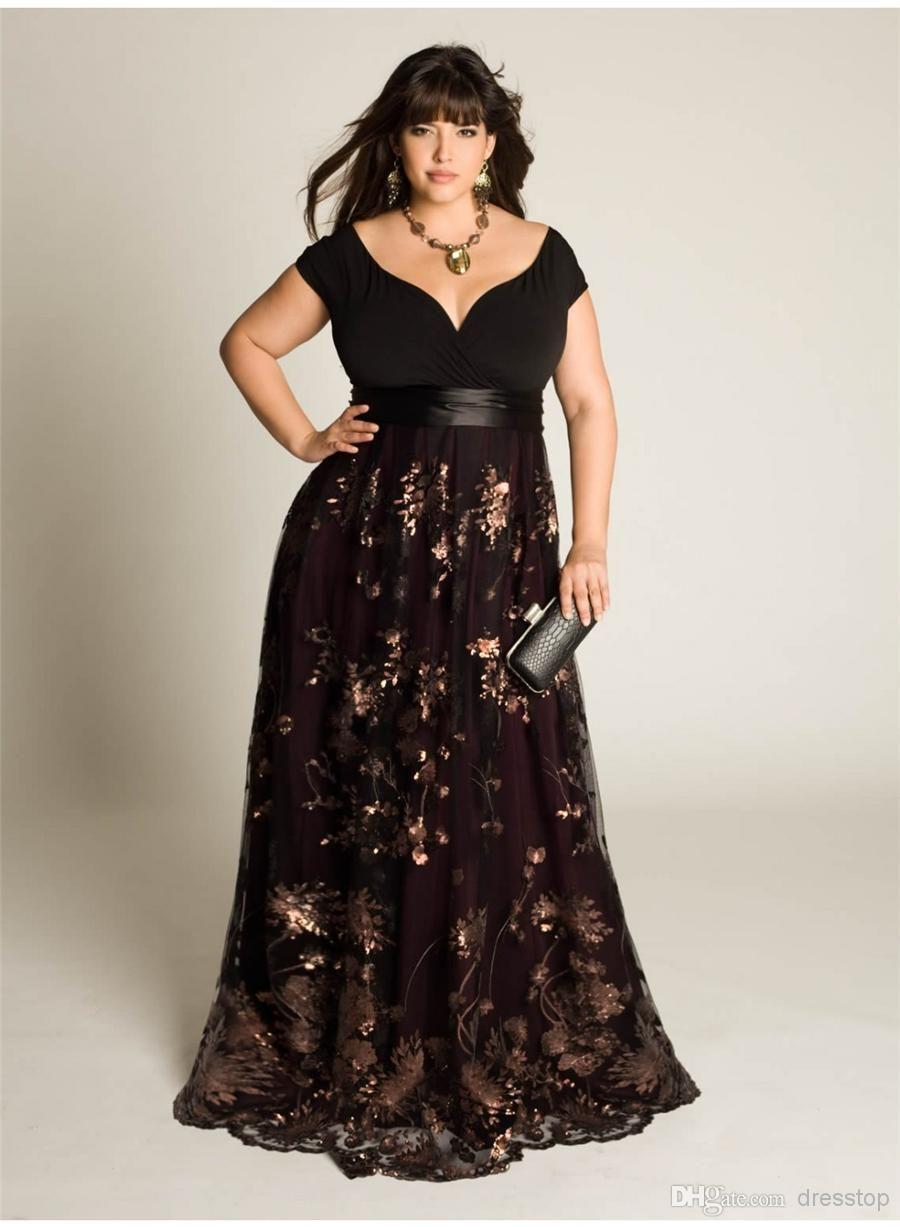 2016 Cheap Plus Size Evening Dresses Sleeves A-Line Off The ...