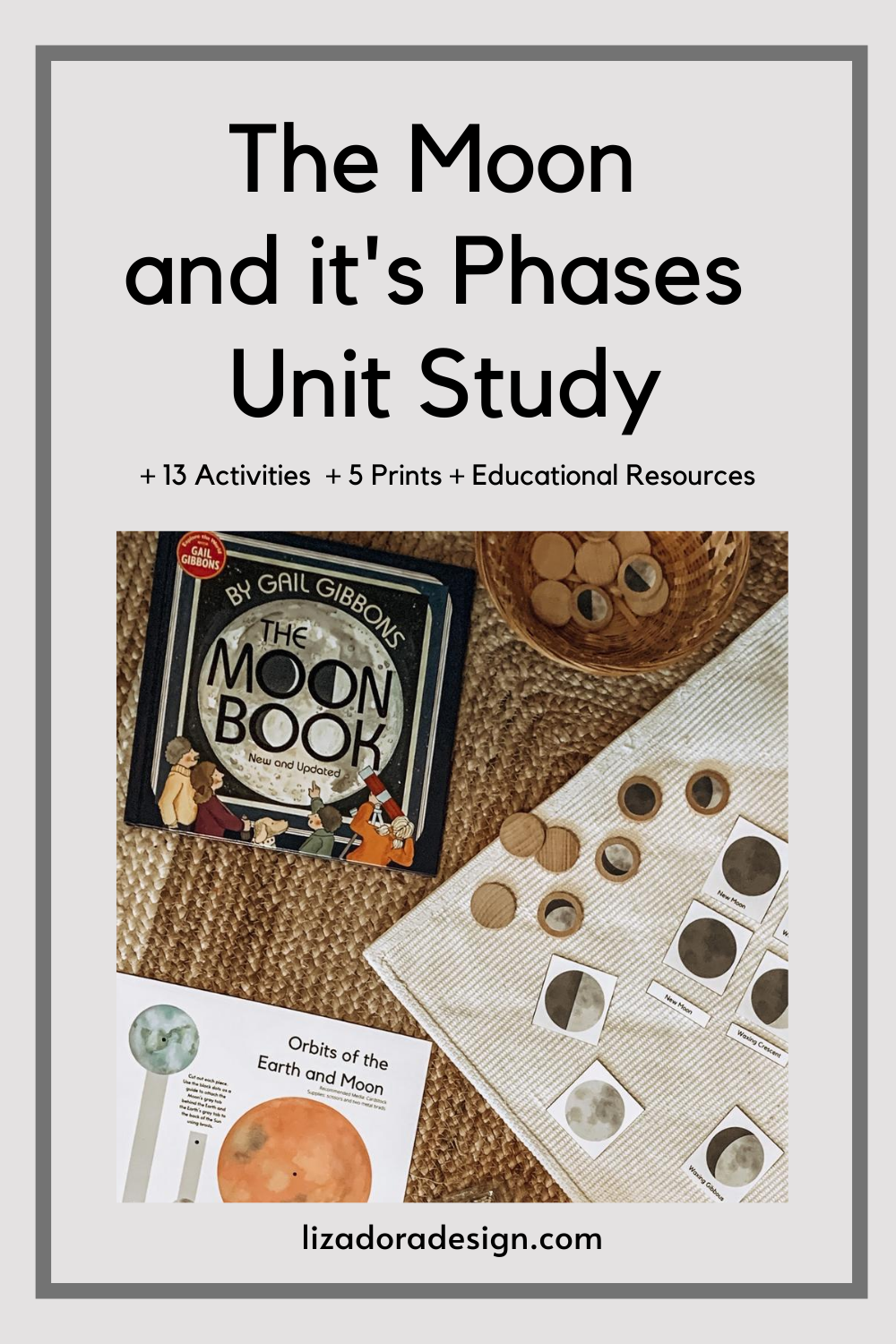 Printable Moon Phase Study In 2020 Math Pages Moon Book Montessori Materials [ 1500 x 1000 Pixel ]