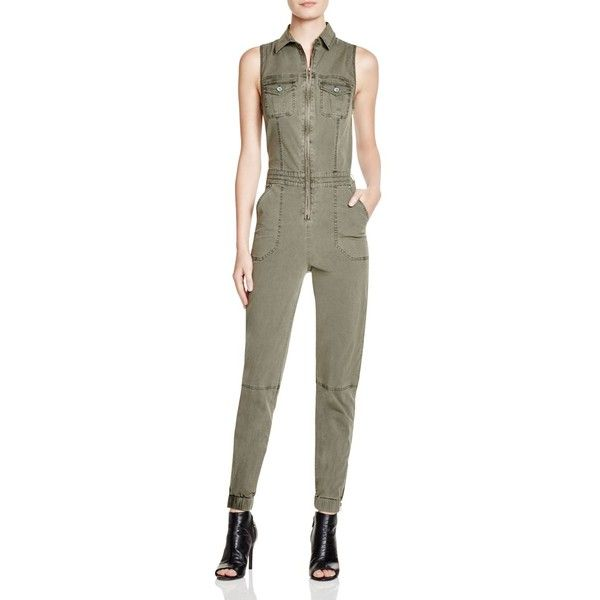 067da42f520 Guess Military Cargo Jumpsuit ( 71) ❤ liked on Polyvore featuring jumpsuits