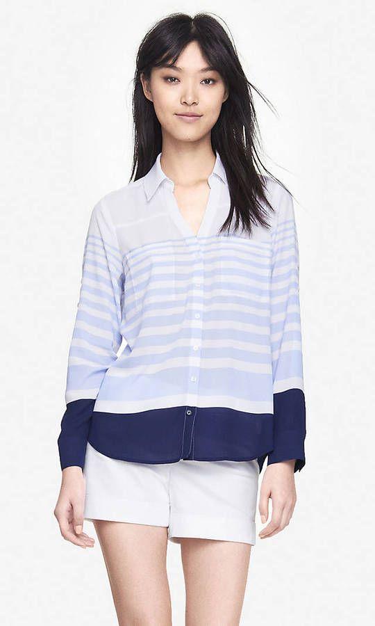 Color Block Stripe Portofino Shirt