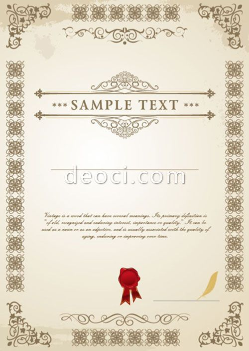 637 deoci Vector European certificate design templates EPS - certificate designs templates