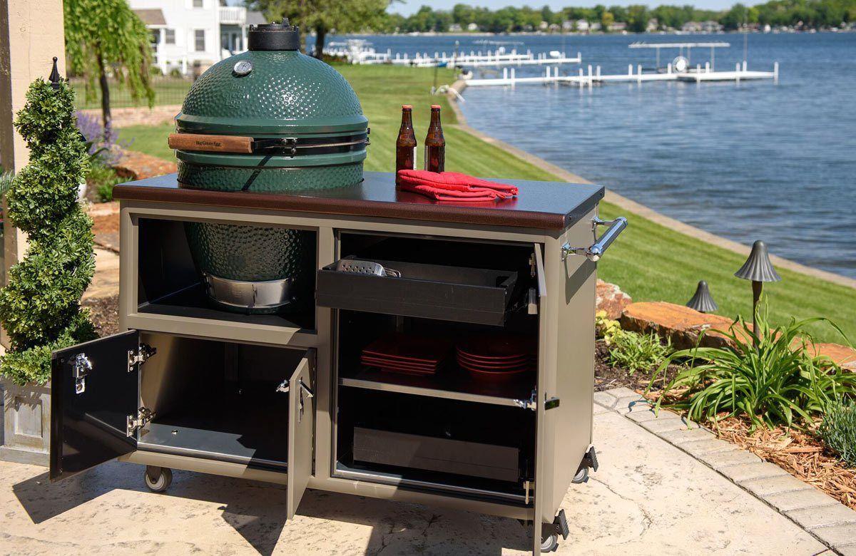 Challenger Big Green Egg Cart Ceramic grill, Big green