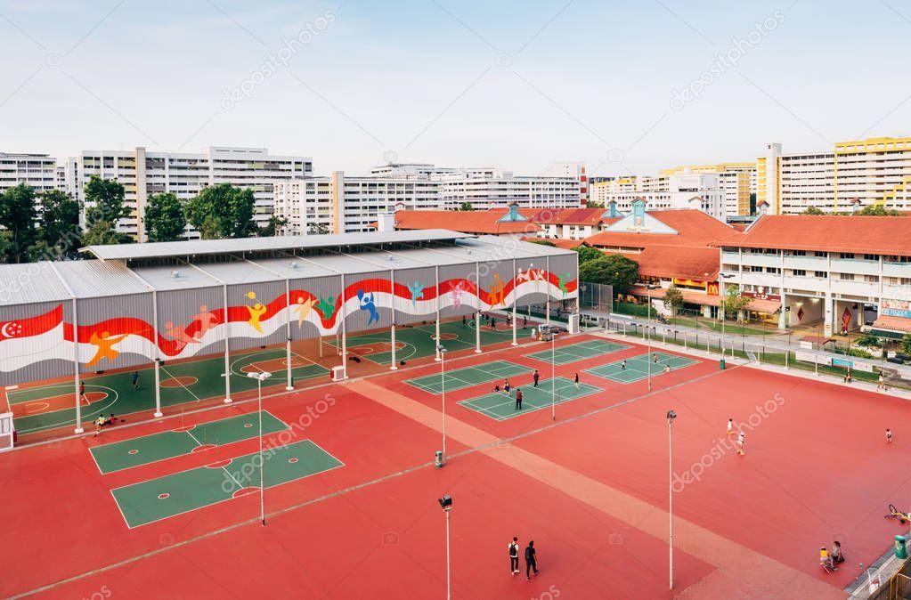 Singapore 24 May 2018 Singapore Khatib Neighborhood Center Indoor Basketball Pl Affiliate Khatib Singapor In 2020 Indoor Basketball The Neighbourhood Singapore