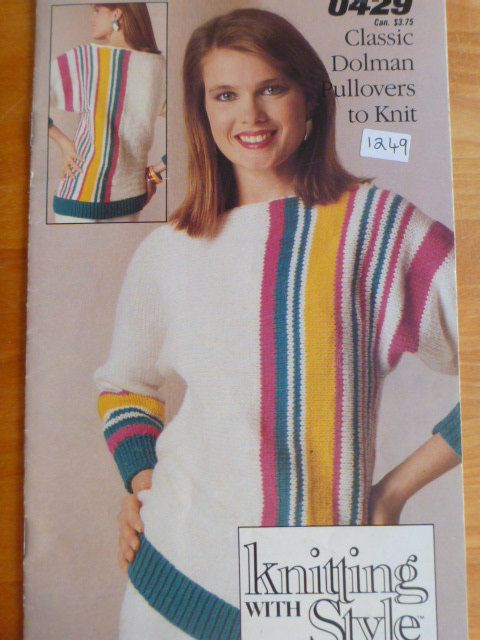 Classic Dolman Pullovers To Knit By Knitting With Style From
