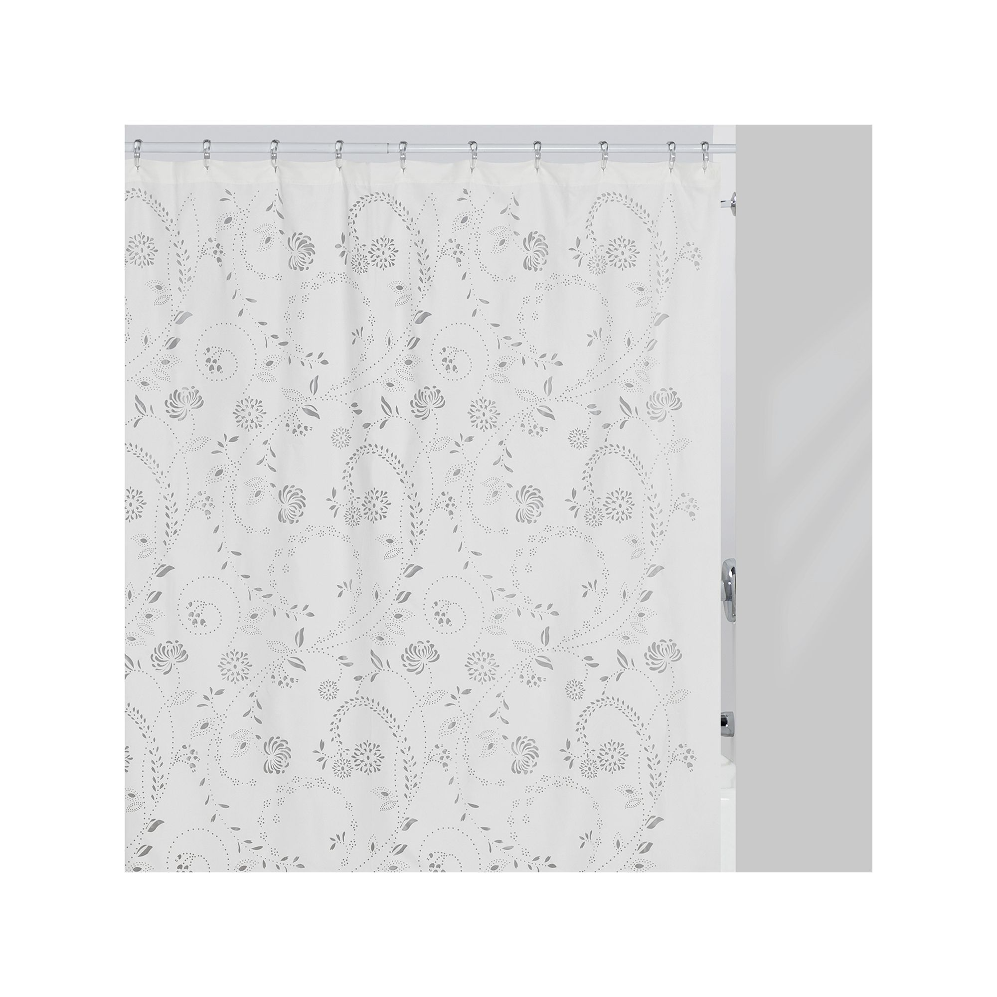 With creative shower curtains white and black creative shower curtain - Creative Bath Eyelet Fabric Shower Curtain White