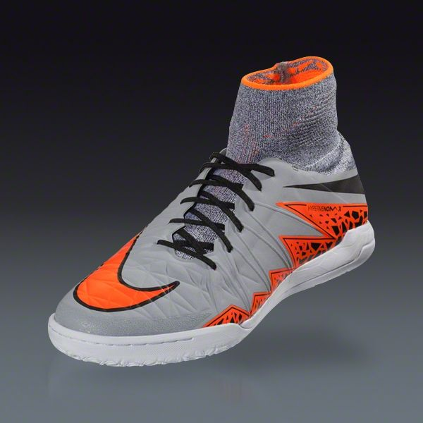 best service b13b7 f0b0d Nike Hypervenom X IC Junior - Wolf Grey Total Orange - Silver Storm Indoor  Soccer Shoes   SOCCER.COM